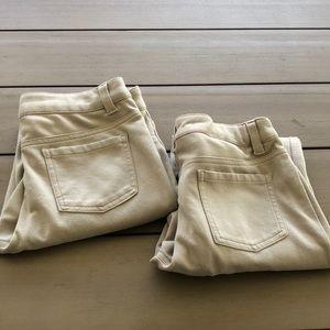 French toast girls uniform jeggings khaki size 14